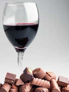 wine and choc